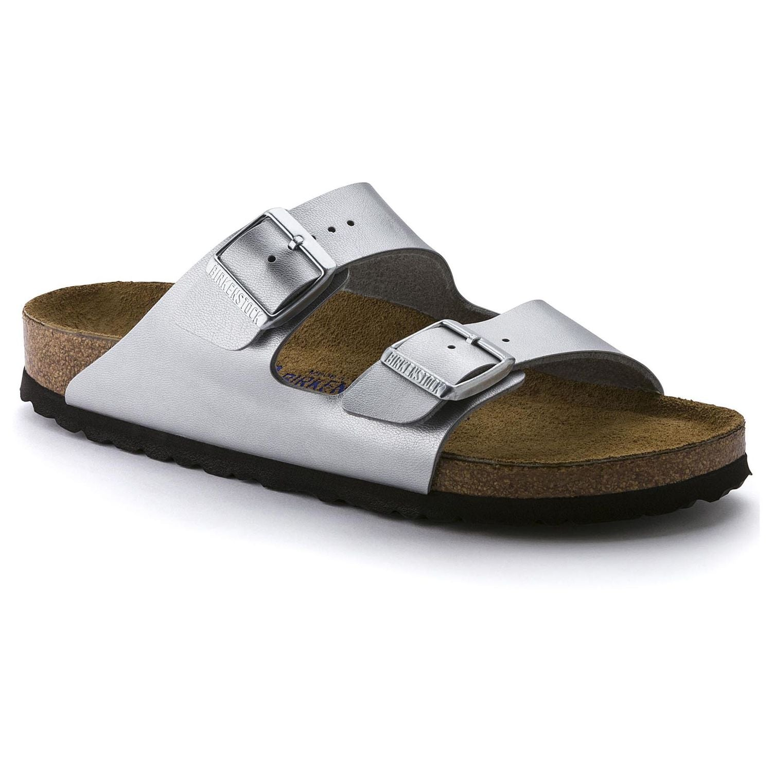Birkenstock Arizona Soft Footbed - Silver