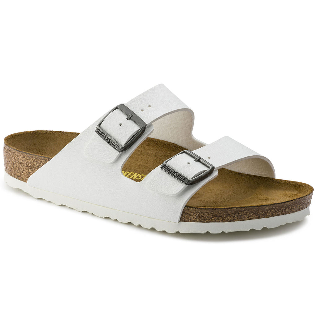 The Birkenstock Arizona Birko-Flor - White w/White Women's Clothing - Shoes from Birkenstock at Shop Southern Roots TX