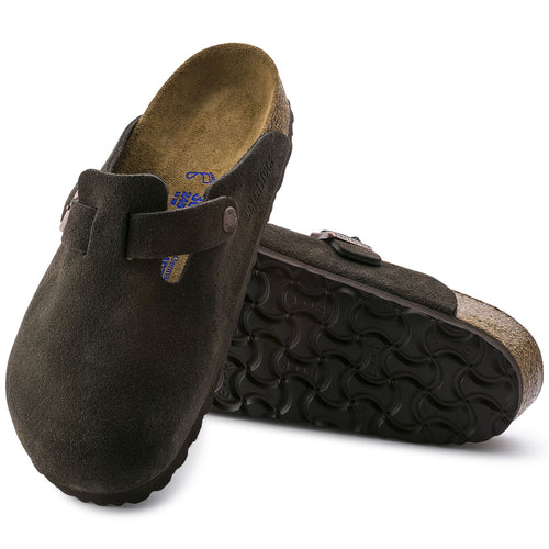 Birkenstock Boston Soft Footbed Suede Leather - Mocha