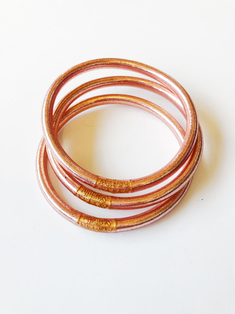 The All Weather Bangle Set of 3 - Rose Gold Jewelry - Bracelet from BuDhaGirl at Shop Southern Roots TX