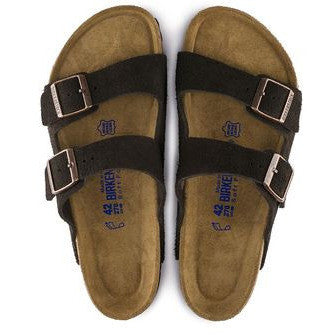 The Birkenstock Arizona Soft Footbed Suede Sandal - Mocha Women's Clothing - Shoes from Birkenstock at Shop Southern Roots TX