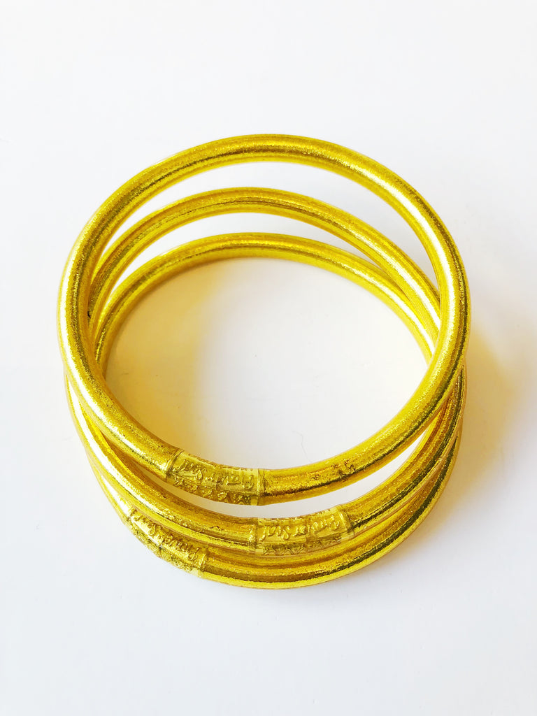 The All Weather Bangle Set of 3 - Gold Jewelry - Bracelet from BuDhaGirl at Shop Southern Roots TX