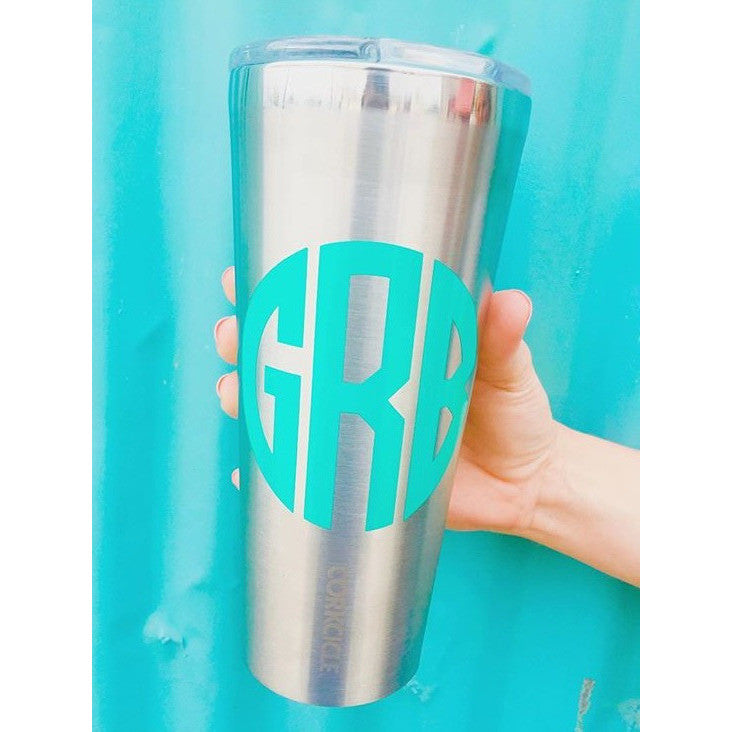 The Standard Monogram Decal- Medium Women's Clothing - Monogram from Shop Southern Roots TX at Shop Southern Roots TX