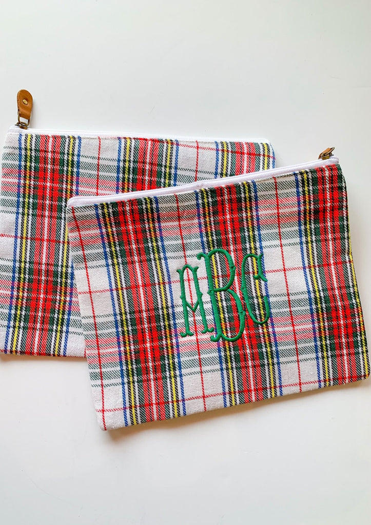 Plaid Tidings Zipper Pouch