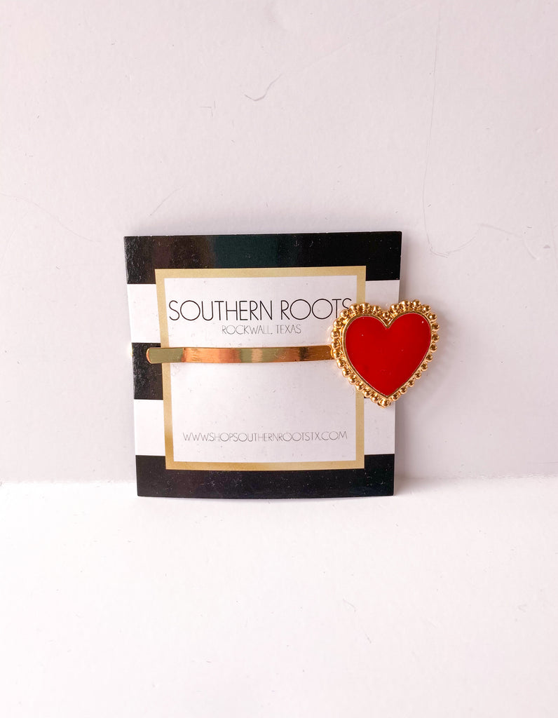 The Heart Clip - Red Jewelry - Earrings from gemelli at Shop Southern Roots TX