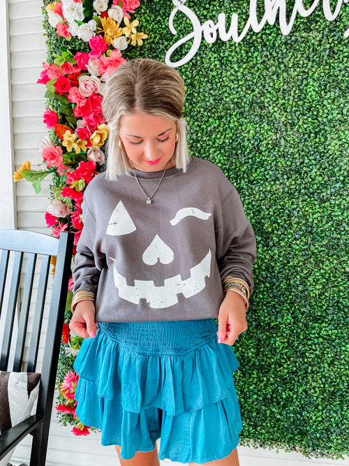 Lauren James Long Sleeve Tee- Fall Ball Y'all- Evergreen