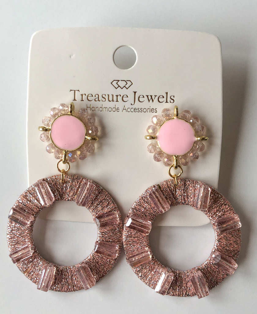 The Catalina Pink Earrings Jewelry - Earrings from Treasure Jewels at Shop Southern Roots TX
