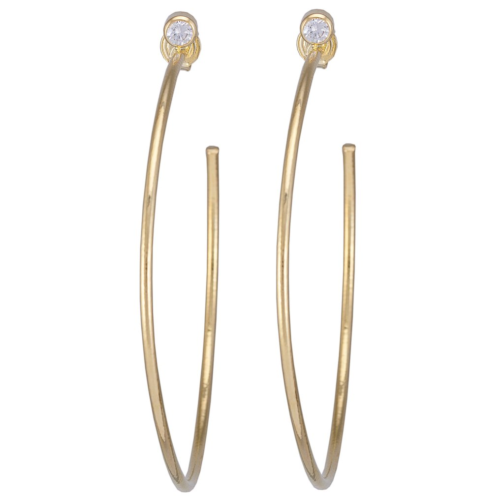 The Briana Hoops - Gold Jewelry - Earrings from Sheila Fajl at Shop Southern Roots TX