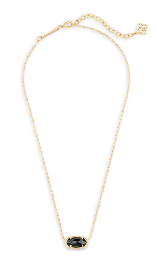 Elisa Gold Necklace - Black