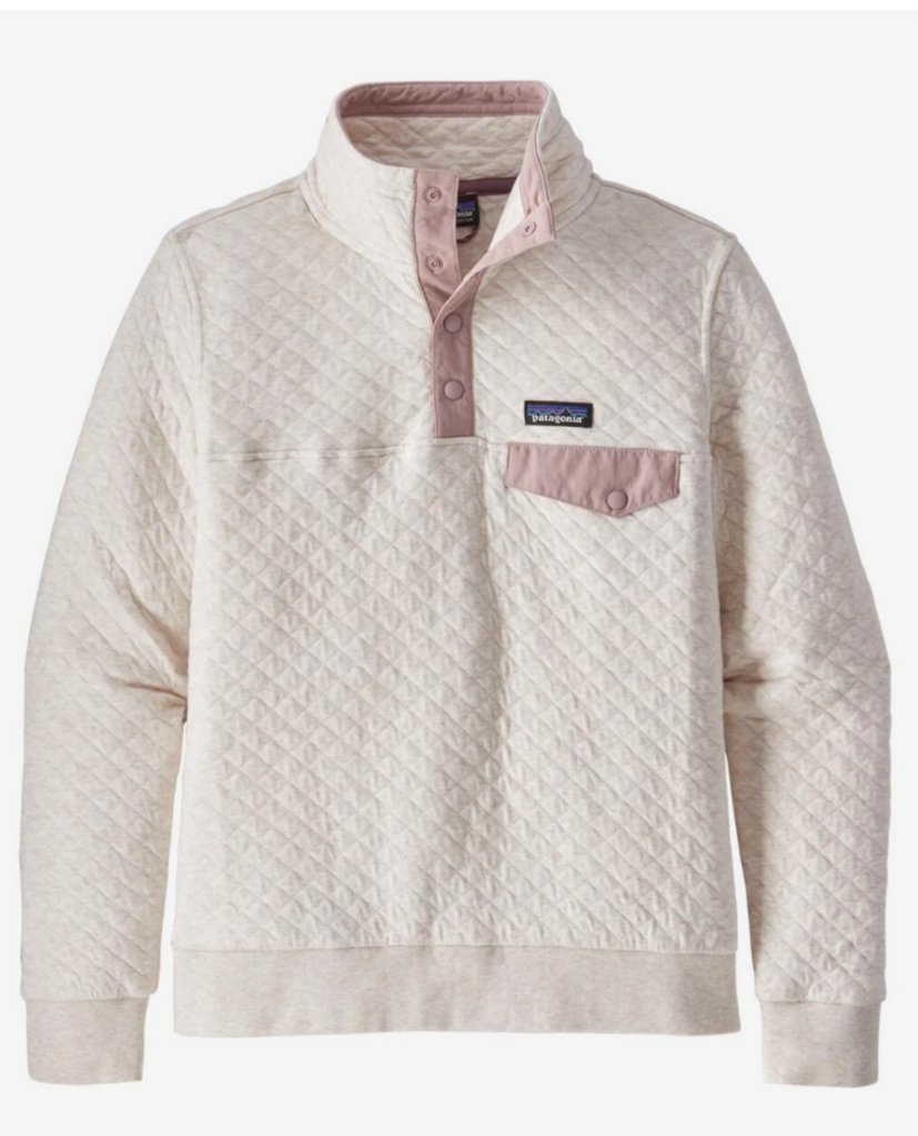 W's Organic Cotton Quilt Snap-T Pullover - Dyno White w/ Hazy Purple