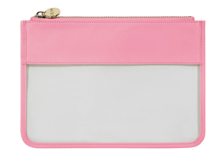 Tropical Clear Flat Pouch - Guava