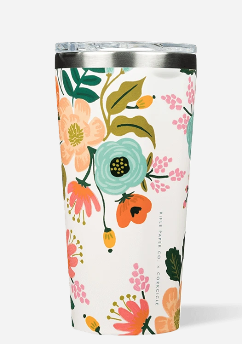 CORKCICLE 16 oz Tumbler - Rifle Paper Co. Lively Floral Cream