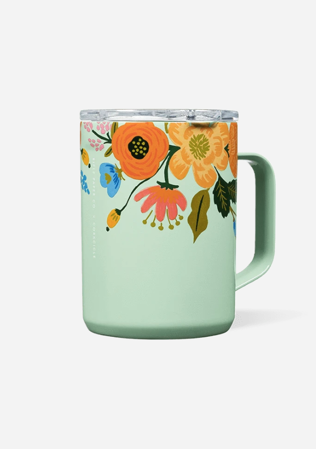 CORKCICLE 16 oz. Mug - Rifle Paper Co. Gloss Mint: Lively Floral