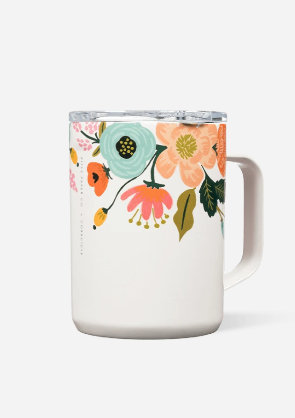 CORKCICLE 16 oz. Mug - Rifle Paper Co. Gloss Cream: Lively Floral