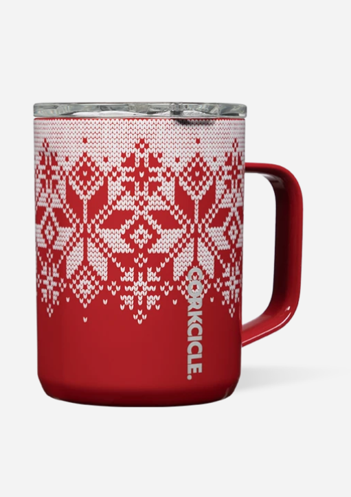 CORKCICLE 16 oz. Mug - Fairisle Red