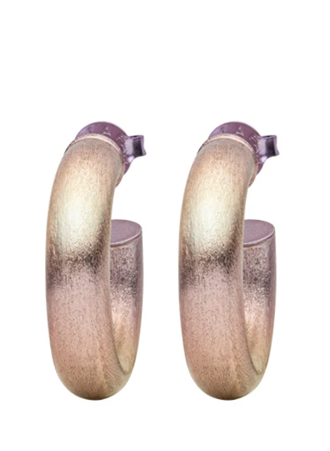 Small Chantal Hoop Earrings - Burnished Lavender