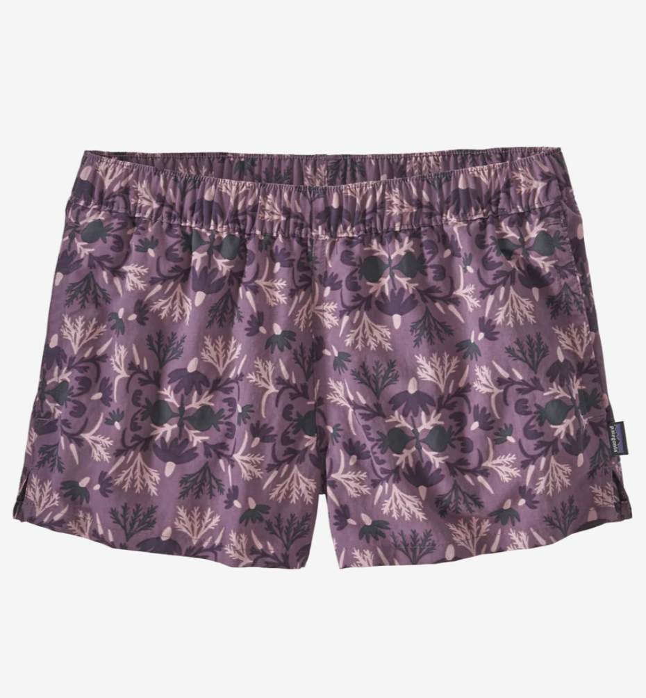 Patagonia W's Barely Baggies Shorts - Roots Reflected Small: Hyssop Purple