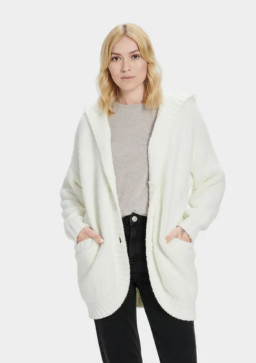 UGG W Franca Travel Cardigan - Cream