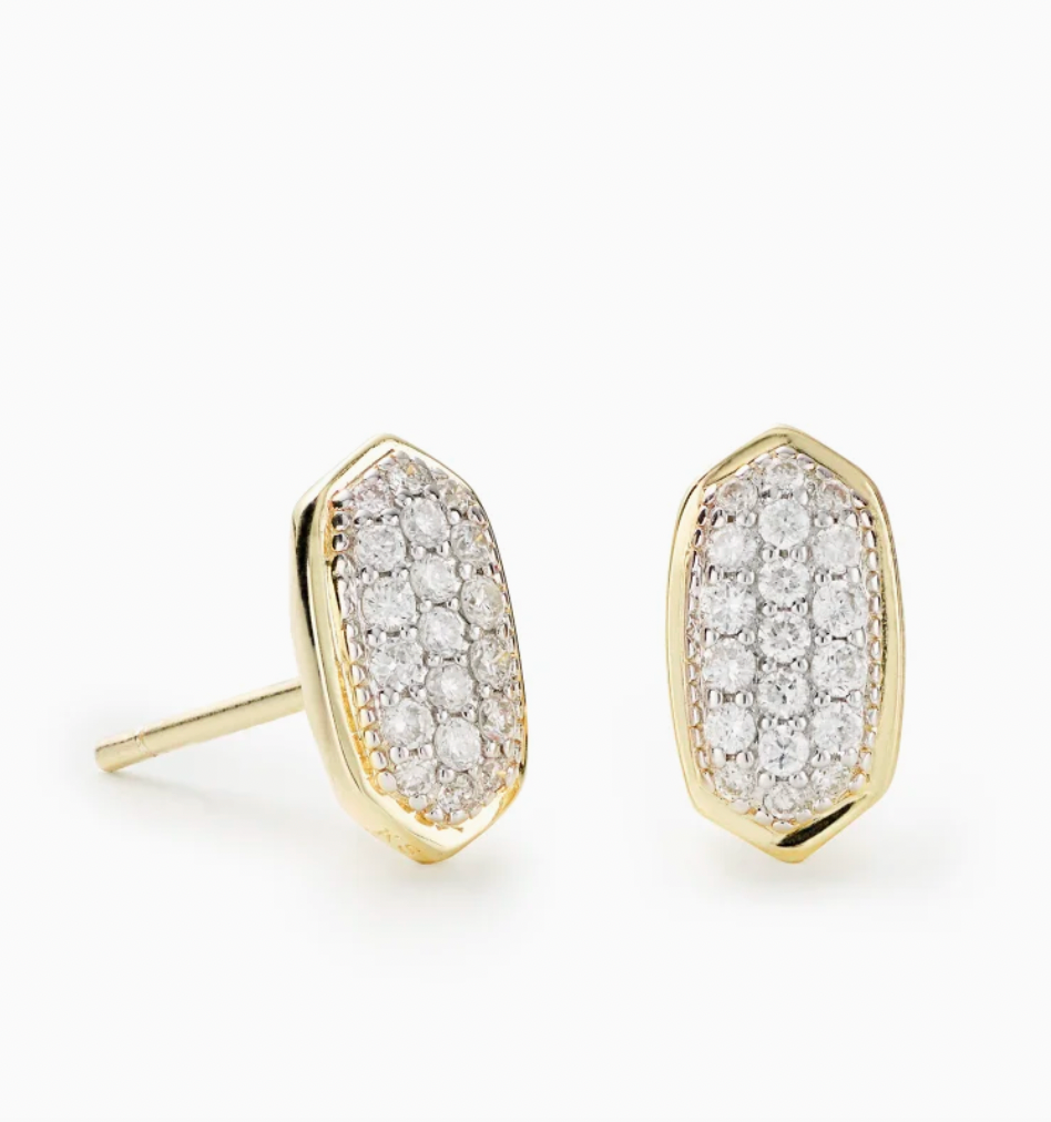 Amelee 14K Gold Earrings - White Diamond