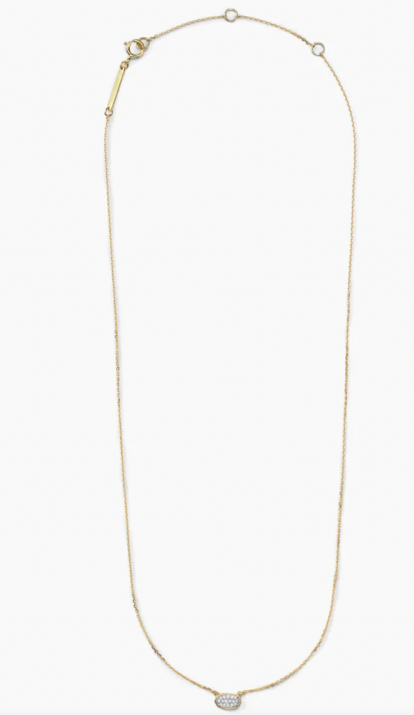 Marisa 14K Gold Necklace - White Diamond