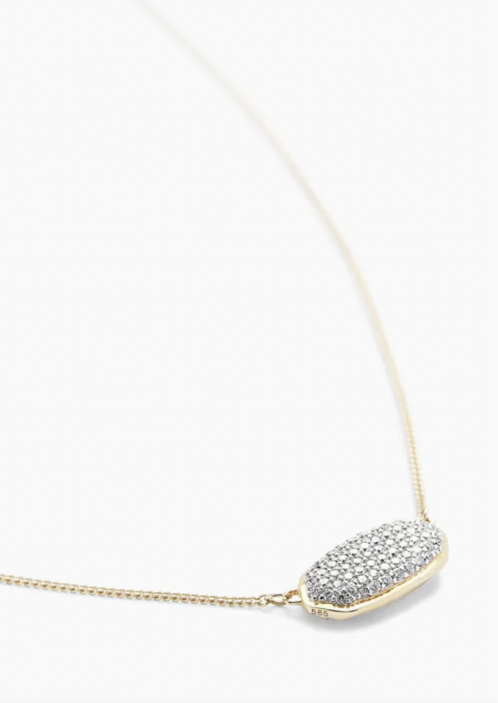Elisa 14K Gold Necklace - White Diamond