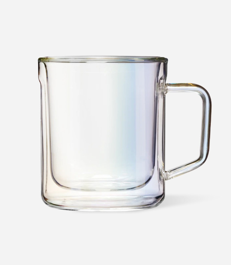 CORKCICLE 12 oz Glass Mugs - Double Pack: Prism
