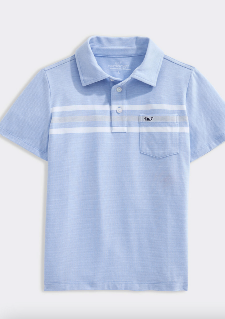 Vineyard Vines Boys' Chest Stripe Edgartown Polo - Le Select Seaside