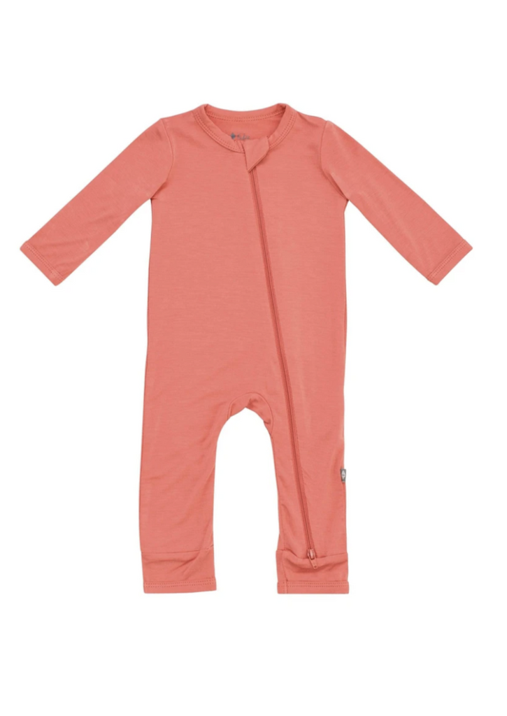 Kyte Baby Zippered Romper - Melon