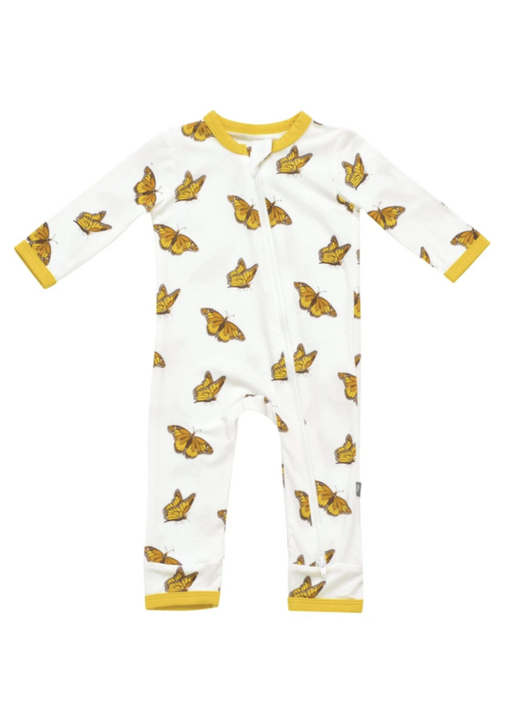Kyte Baby Zippered Romper - Monarch