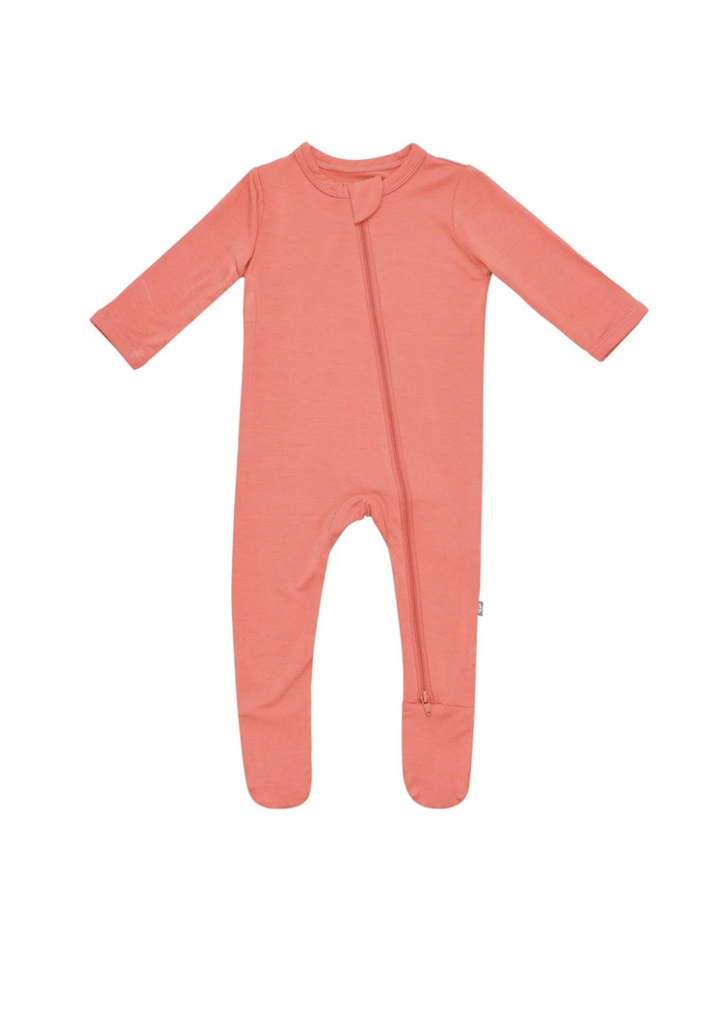 Kyte Baby Zippered Footie - Melon