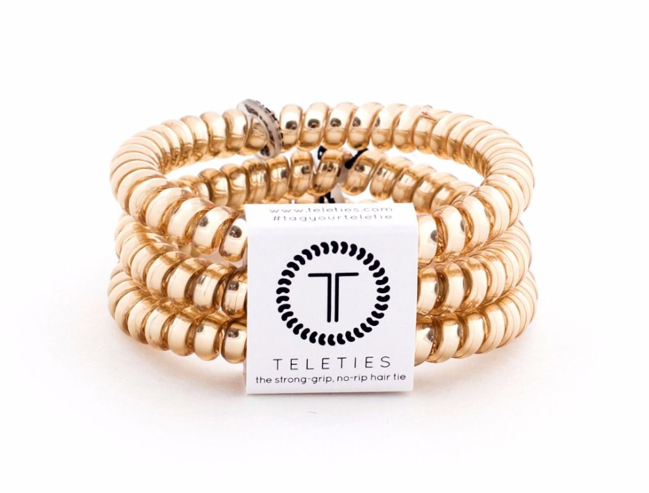 The Teleties Sunset Gold 3 pack · Small hairties from TELETIES at Shop Southern Roots TX