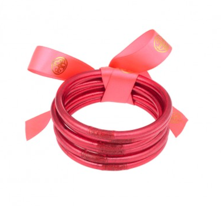 The All Weather Bangle - SIZE SMALL - Set of 6 - Pink Jewelry - Bracelet from BuDhaGirl at Shop Southern Roots TX