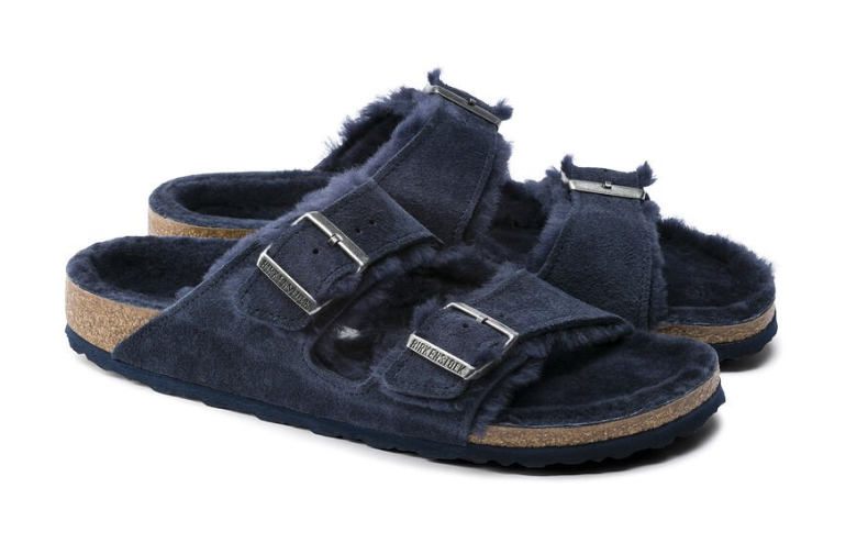 The Birkenstock Arizona Shearling Suede Leather - Night Women's Clothing - Shoes from Birkenstock at Shop Southern Roots TX