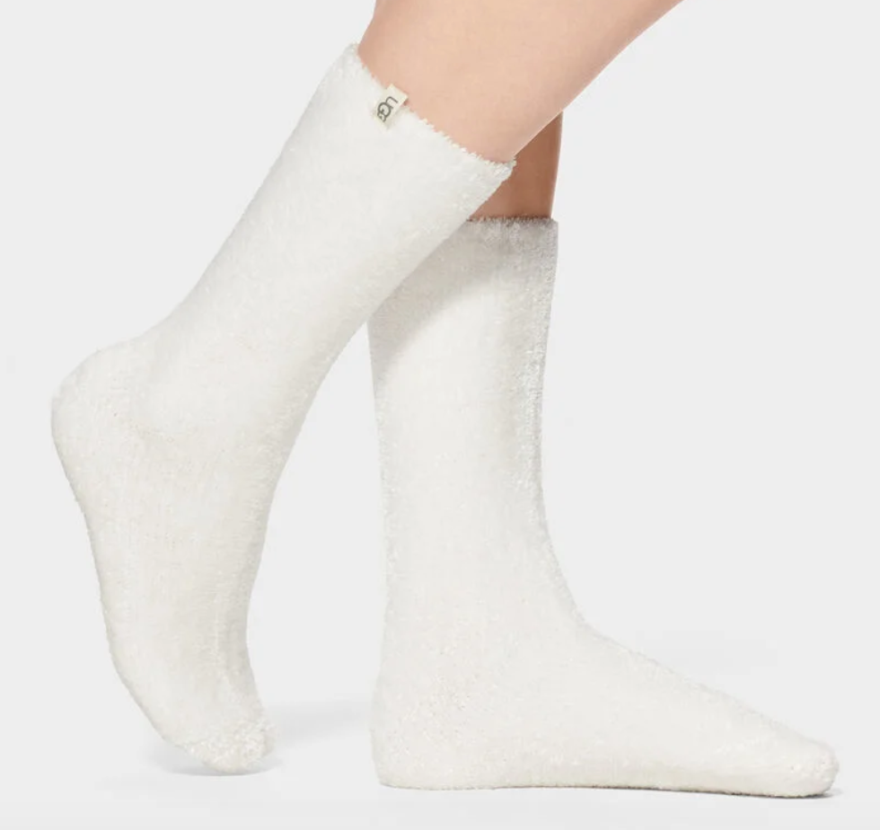 The UGG Leda Cozy Socks - White Women's - Accessories - Socks from UGG at Shop Southern Roots TX