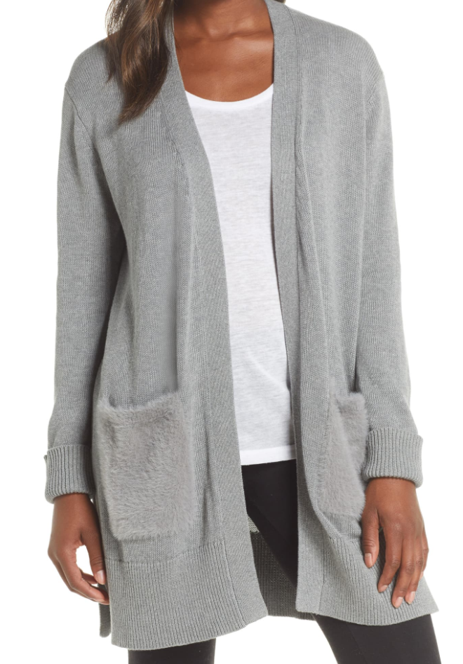 The UGG Lauren Cardigan - Grey Heather Women's Clothing - Tops - Sweaters and Cardigans from UGG at Shop Southern Roots TX