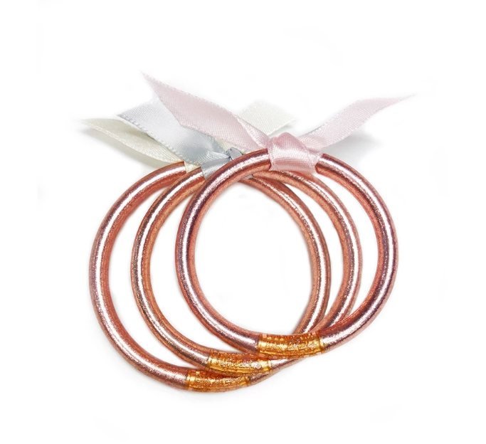 The Baby All Weather Bangle - Rose Gold  from BuDhaGirl at Shop Southern Roots TX