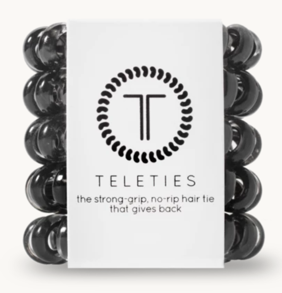 Teleties Jet Black 5 pack · Tiny