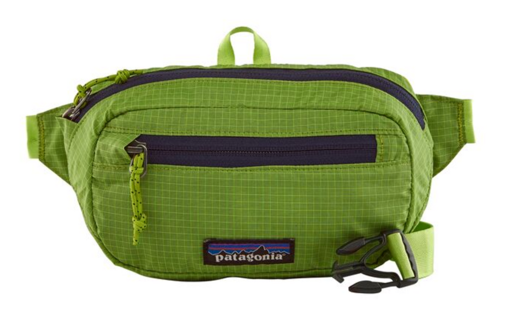 Patagonia Ultralight Black Hole® Mini Hip Pack 1L - Patchwork: Peppergrass Green