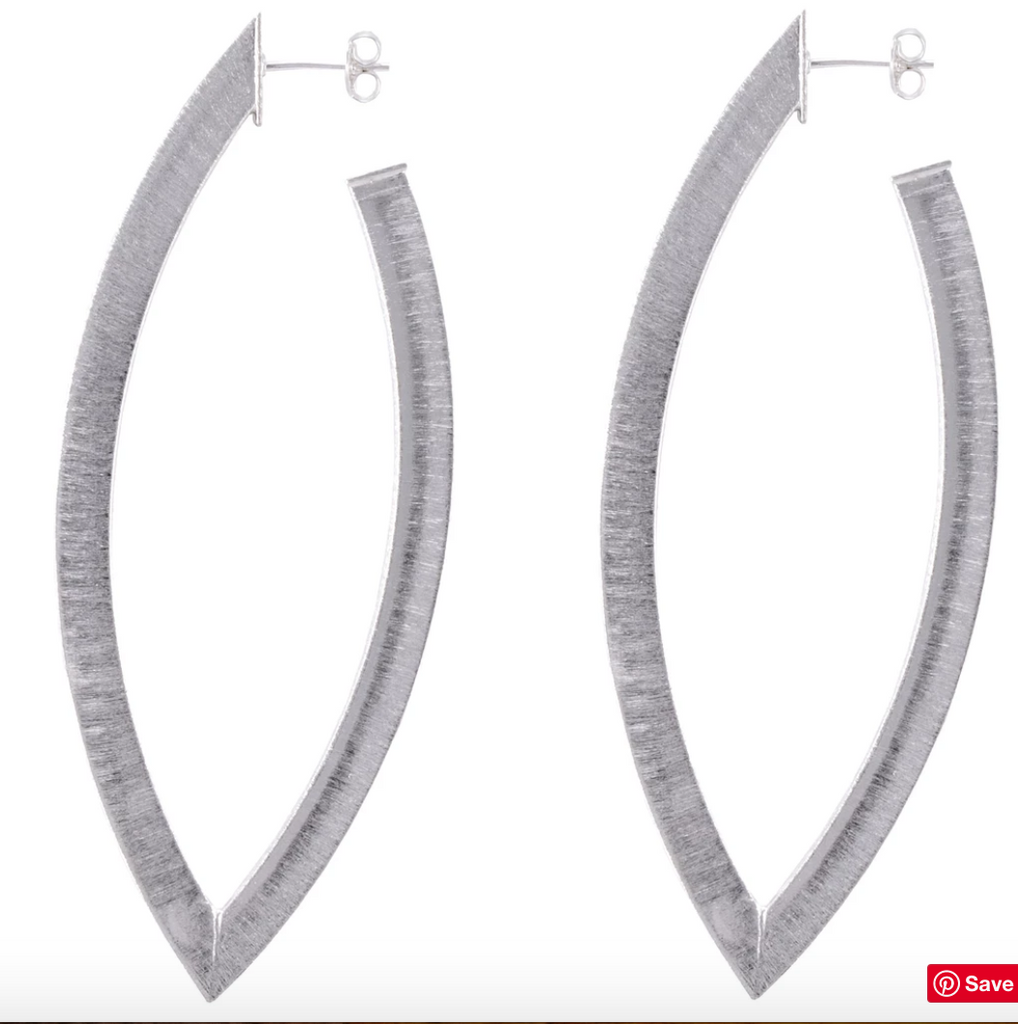 The Smaller Alba Hoop Earrings - Silver Jewelry - Earrings from Sheila Fajl at Shop Southern Roots TX