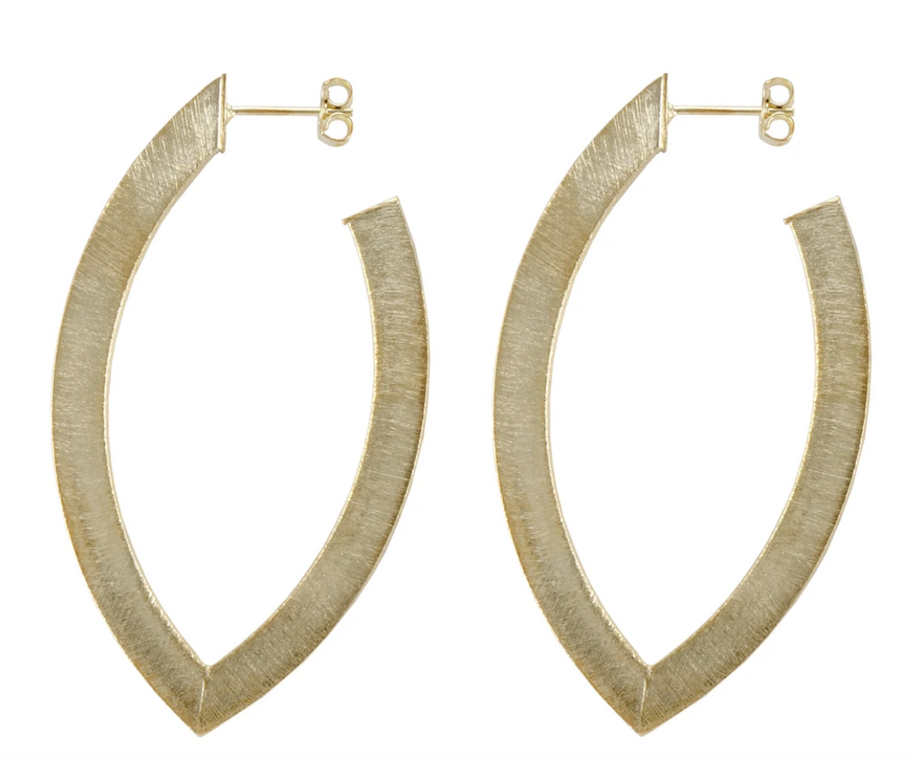 The Smaller Alba Hoop Earrings - Gold Jewelry - Earrings from Sheila Fajl at Shop Southern Roots TX