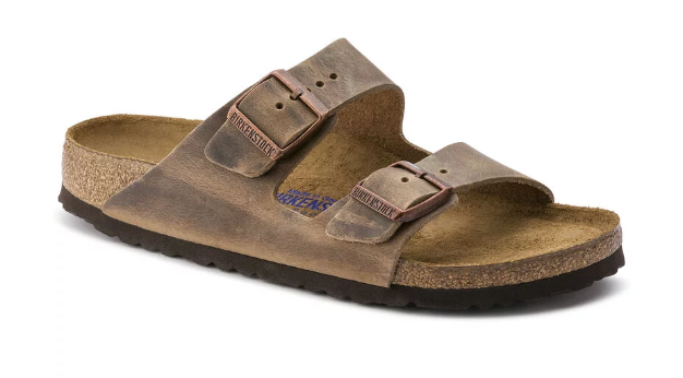 The Arizona Soft Footbed Oiled Nubuck Leather - Tobacco Brown shoes from Birkenstock at Shop Southern Roots TX