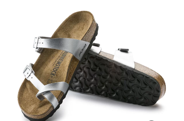 The Mayari Birko-Flor - Silver Women's Clothing - Shoes from Birkenstock at Shop Southern Roots TX