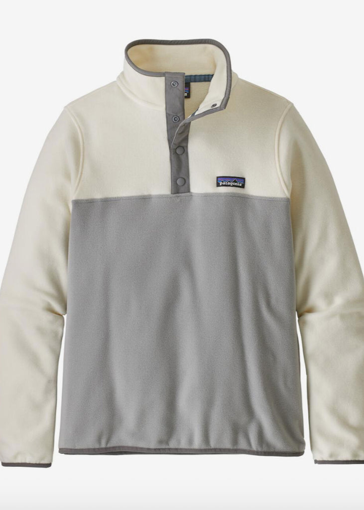 The Patagonia W's Micro D Snap-T Fleece P/O - Drifter Grey w/ White Wash Women's - Pullovers from Patagonia at Shop Southern Roots TX