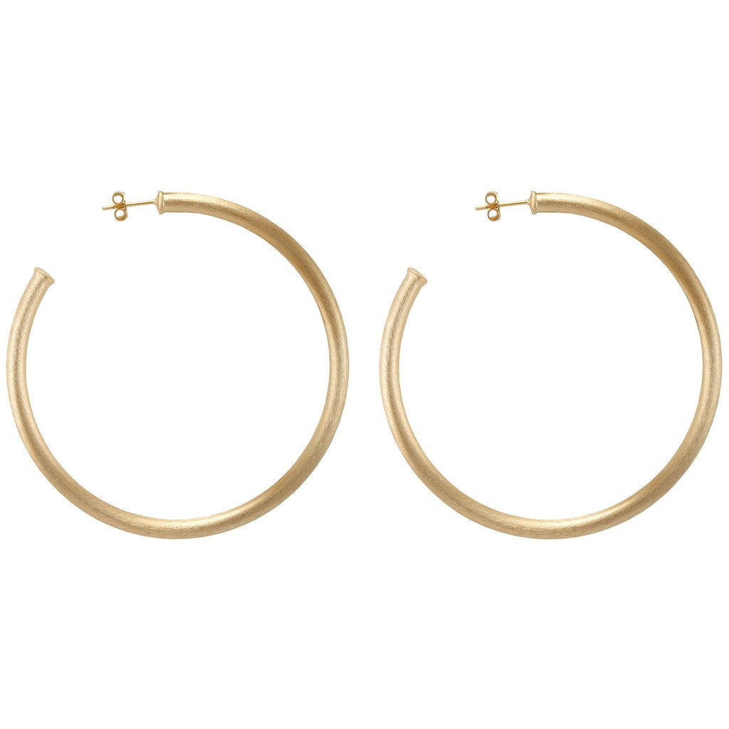 The Everybody's Favorite Hoops - Gold Jewelry - Earrings from Sheila Fajl at Shop Southern Roots TX