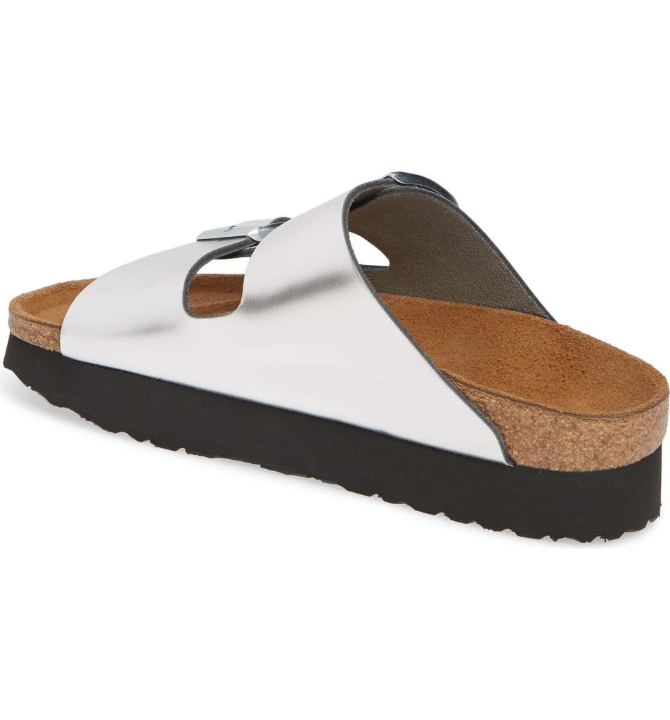 The Birkenstock Papillio Arizona Platform - Silver Women's Clothing - Shoes from Birkenstock at Shop Southern Roots TX