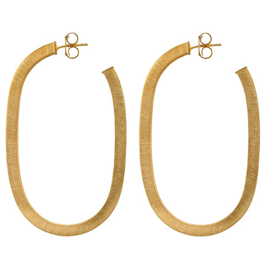 The Lala Hoop Earrings - Gold Jewelry - Earrings from Sheila Fajl at Shop Southern Roots TX
