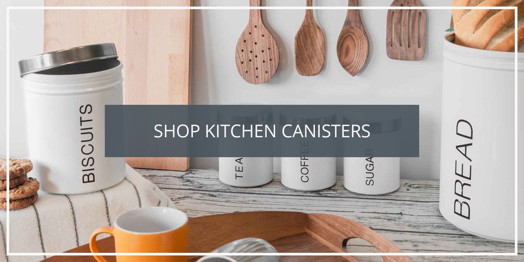 Shop the Harbour Housewares Collection of Kitchen Tea Coffee Sugar Canisters