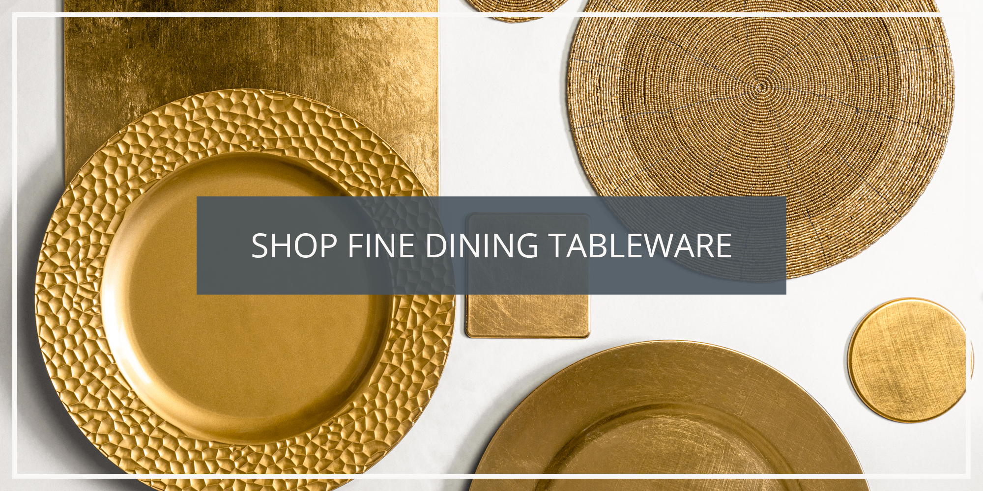 Shop the Argon Tableware Fine Dining Collection of Charger Plates Coasters and Napkin Rings
