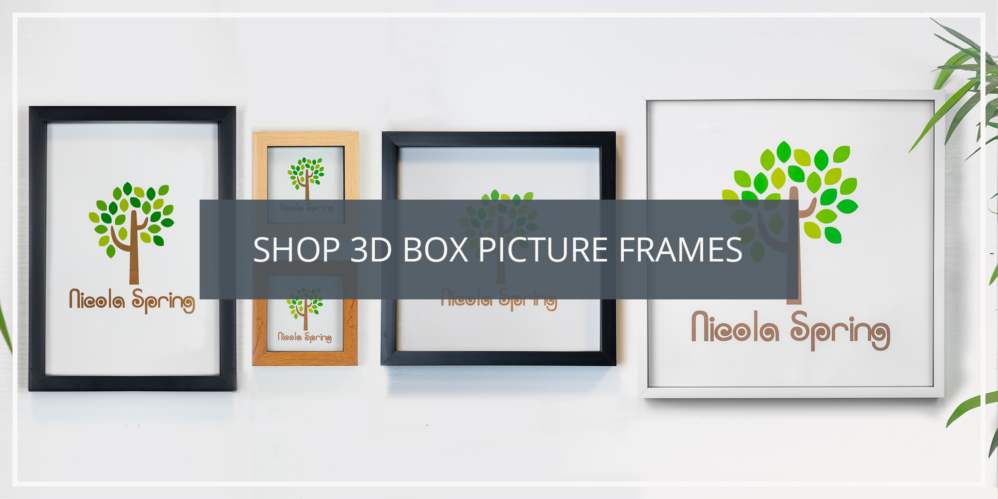 Shop the Nicola Spring 3D Box Photo Picture Frame Frames Collection