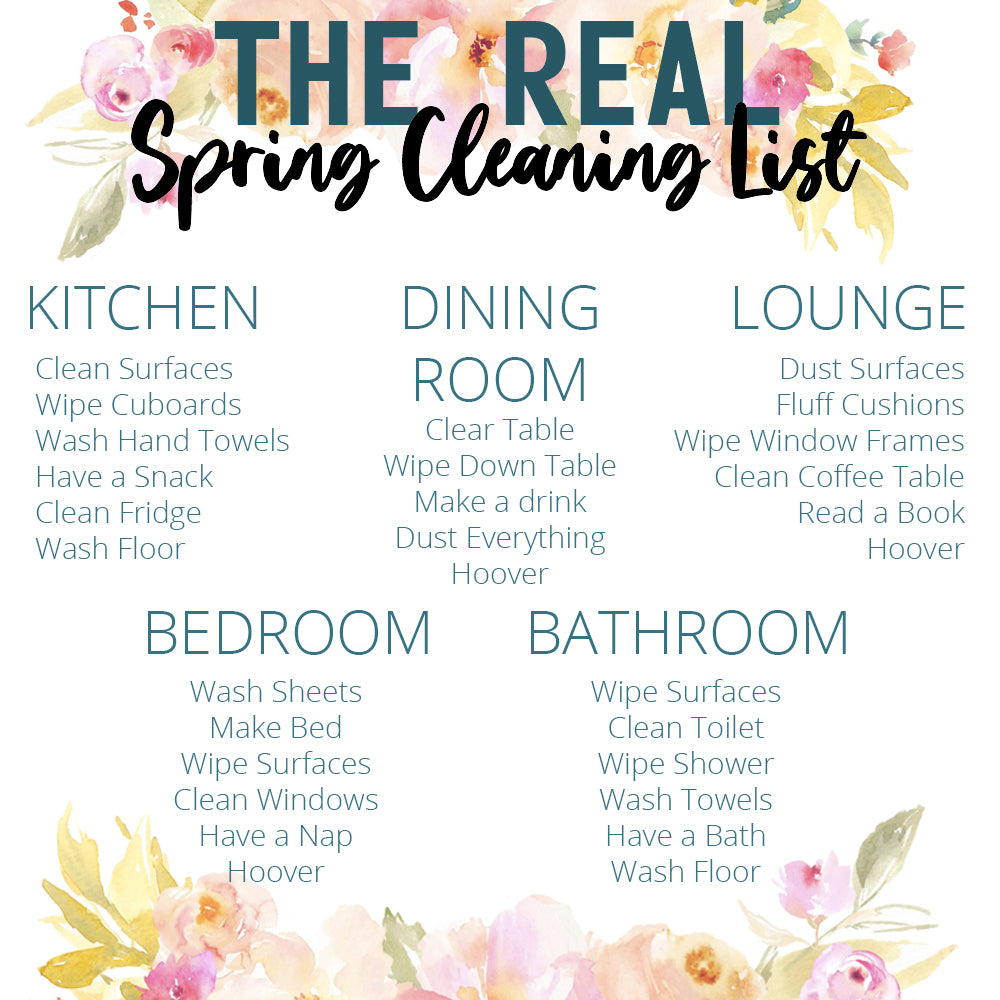 Lottie's Rinkit.com Spring Cleaning List for the Home